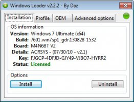 Активатор Windows 7 (Windows Loader 2.2.2 by Daz)
